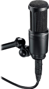 Audio-Technica AT2020 Cardioid Condenser Studio XLR Microphone, Black, Ideal for ProjectHome Studio Applications