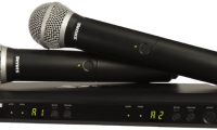 Shure BLX288PG58 Dual Channel Wireless Microphone System with (2) PG58 Handheld Vocal Mics